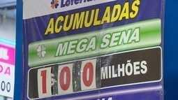Megasena acumula e prêmio chega a R$ 100 milhões