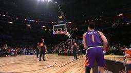 Devin Booker, do Phoenix Suns, vence o desafio de três pontos do All-Star Game
