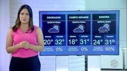 Veja a previsão do tempo para quinta-feira (22) em MS