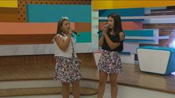 Larissa e Isabela, do The Voice Kids, cantam no 'Estúdio C'