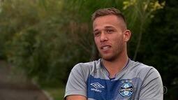 Goiano, voltante Arthur, do Grêmio, fala sobre expectativa de transferência para o Barça