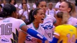 Confira um resumo da campanha do Sesc Rio até chegar a decisão da Superliga feminina