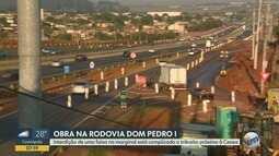 Obras na Dom Pedro podem causar lentidão na saída da Ceasa, em Campinas