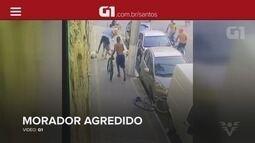 G1 em 1 Minuto: Criminosos agridem e 'montam' em vítima durante assalto em Guarujá, SP