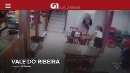 G1 em 1 Minuto: rianças fogem de assaltantes durante arrastão em padaria