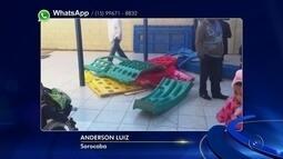 Vândalos invadem escola e quebram brinquedos em Sorocaba