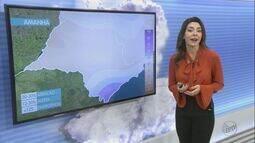 Confira a previsão do tempo para a região na quarta-feira