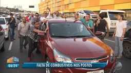Trânsito complicado: motoristas de aplicativos protestam contra o valor dos combustíveis