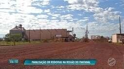 Sem caminhões, porto de Ladário para