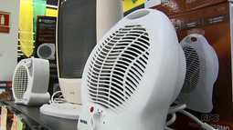 Vendas de aquecedores elétricos aumentam com frio das últimas semanas