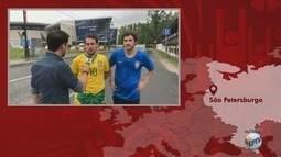 'Tô na Russia': Confira o clima pré jogo do Brasil em São Petersbugo