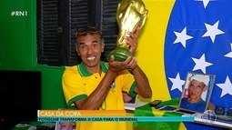 Potiguar transforma a casa para Copa do Mundo