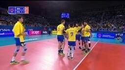 4º set: Evandro solta o braço e fecha o jogo para o Brasil 25/23