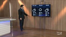 Veja a previsão do tempo neste sábado (23) no Maranhão