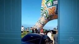 Balão cai próximo de praia em Rio das Ostras, no RJ