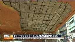 Pontos de ônibus estão com problemas na estrutura, em Goiânia