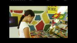 Crianças aproveitam o primeiro dia da Feira Literária de Governador Valadares