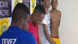 Quatro pessoas são presas e um menor apreendido em Rio Branco
