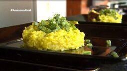 Parte 3: Aprenda a preparar risoto de jiló com linguiça defumada