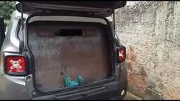 Carro é 'blindado' com chapa de aço para assalto de carro-forte em Angra dos Reis
