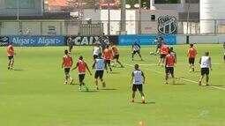 Ceará treina para partida contra Grêmio, fora de casa