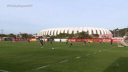 Boas e más notícias: Inter realiza treino visando duelo contra o Corinthians
