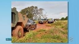 Foças de segurança fazem operação em Mato Grosso do Sul, na região de fronteira
