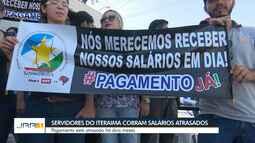Servidores do Iteraima fazem protesto em Boa Vista