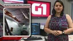 G1 em 1 minuto – Acre: vendaval atinge Acrelândia e destelha escola