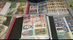 Aposentada de João Pessoa tem mais de cinco mil santinhos de campanhas eleitorais.