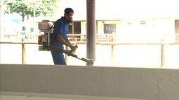 Semana foi limpeza e desinfecção do Parque da Pecuária