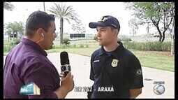 PRF de Araxá orienta sobre cuidados nas estradas durante 'semana do saco cheio' escolar