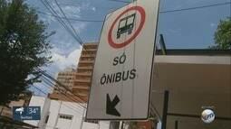 Transerp começa a multar motoristas que passarem na faixa de ônibus em Ribeirão, SP