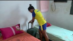 Luzia é o novo destaque do Tiradentes e ganha mensagem de Valéria, piauiense da seleção