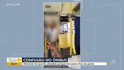 Polêmica: motorista é afastado e se defende após prender perna de passageira em ônibus