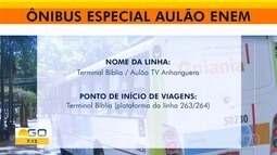 Alunos terão linha especial de ônibus para ir ao Aulão do Enem, da TV Anhanguera