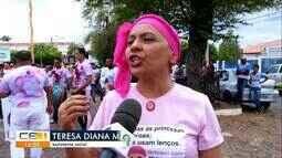 Caminhada marca a importância do diagnóstico do câncer de mama, em Barbalha