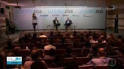Eduardo Paes e Wilson Witzel participam de debate no Rio de Janeiro