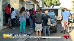 Moradores relatam medo da insegurança em Itapoã, Vila Velha, ES