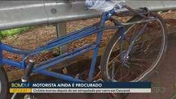 Motorista que atropelou ciclista e fugiu é procurado pela polícia