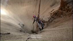 Trabalhador cai em silo e é socorrido