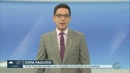 XV de Piracicaba empata contra o Taubaté pela Copa Paulista