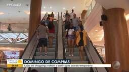 Após acordo, lojas de shoppings voltam a funcionar aos domingos