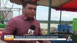 Parque de diversões montado na orla de Humaitá, no AM, preocupa moradores