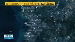 Embasa suspende fornecimento de água em 13 localidades da capital nesta quarta-feira (24)