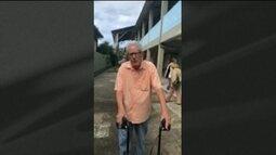 Idosos enfrentam dificuldades para votar em Santos (SP)