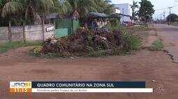 Quadro comunitário: Moradores pedem por limpeza em rua do bairro Cohab
