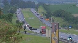 Movimento nas rodovias começa a ficar intenso para a saída do feriado na região