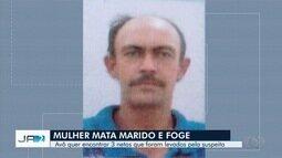 Mulher suspeita de matar o marido foge com os filhos e deixa família da vítima preocupada