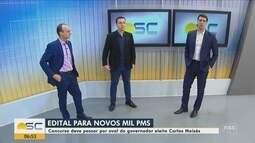 Concurso para novos PMS em SC deve passar por aval do governador eleito Carlos Moisés